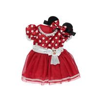 Fantasia Disney Minnie Mouse Baby C/ Faixa Orelhas 6/9 Meses
