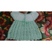 Vestidinho Em Croche Para Bebe, Em Lã Ou Linha Antialérgica.