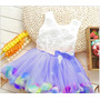 Vestido Pétalas Para Bebes 9m Várias Cores Pronta Entrega