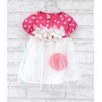 Vestido De Festa Infantil Com Tule Bebe Festa Batizado