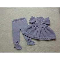 Vestido Calças Tuk Pérola Bebê Saída Maternidade Ou Batismo