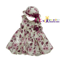 Vestido De Festa Infantil Floral - Com Chapeuzinho
