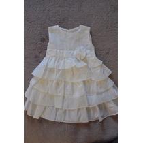Vestido Para Batizado Branco Com Babados - Tamanhos P, M, G