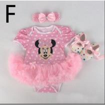 Vestido Bebê Minnie Importado + Tiara + Sapatinho