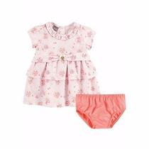 Vestido + Calcinha 100% Algodão Brandili De 1 A 3 Anos