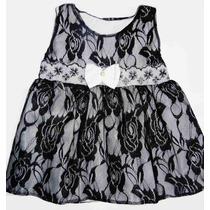 Lindo Vestido De Renda Para Bebês - Pronta Entrega