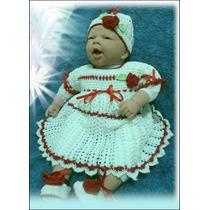 Vestidinho Crochê P/ Bebe, Ou Para Boneco Rebord!