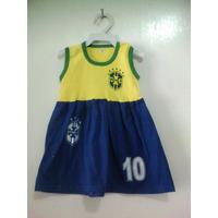 Vestido Torcida Baby Seleção Brasileira