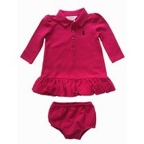 Vestido Polo Ralph Lauren Infantil Bebe ( Com Tapa Fralda)