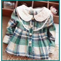 Vestido Infantil Bebê Casaco Quadrilha Infantil Xadrez Blusa