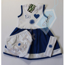 Vestido Bebê Time Cruzeiro