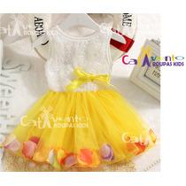 Vestido De Festa Para Bebê Com Faixa De Cabelo De Brinde