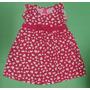 Vestido Bebê Menina Aldogão Corações Rosa Verão Regata
