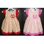Vestido Bebê Infantil Rosa Vermelho Detalhe Laço, Manga Flor