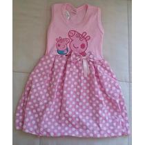 Vestido Infantil Malha Peppa - 2 Anos