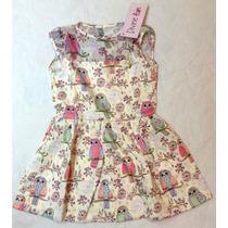 Vestido Coruja Divine Fun Infatil Bebê