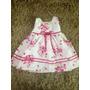 Vestido Infantil De Festa La Princess Florido 12/24 Meses