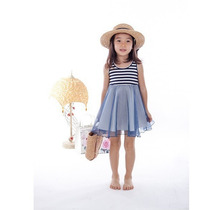 Vestido Infantil De Malha De Algodão 50% De Desconto