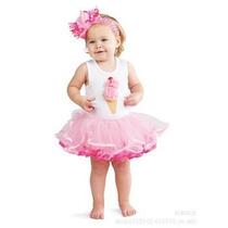 Vestido Bailharina Tuli Blusa Aplicação 1, 2, 3 ,4 Anos