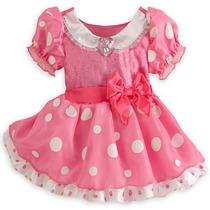 Vestido Minnie Rosa Original Da Disney Store