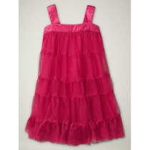 Vestido Gap *importado Tulle Bailarina Rosa Pink 18-24 Meses