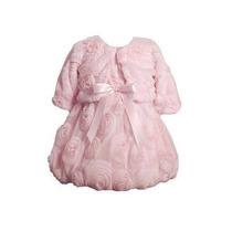 Vestido Bonnie Jean Baby - Com Jaqueta. Tamanho 2 Anos.