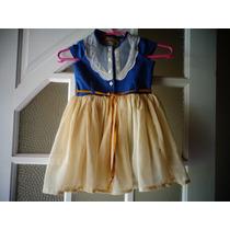 Vestido Infantil Jeans E Voal