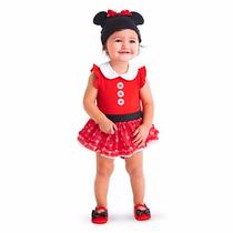 Fantasia Vestido Minie Baby Completo Disney Store 18/24meses