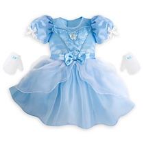 Vestido Baby Princesa Cinderela Original Disney Completo