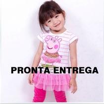 Vestido Peppa Pig Roupa Personagem - Pronta Entrega!!