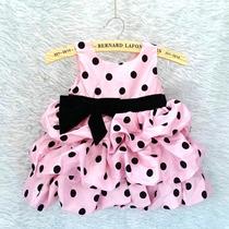 Vestido Infantil Importado Festa Minie Poá Luxo Tiara