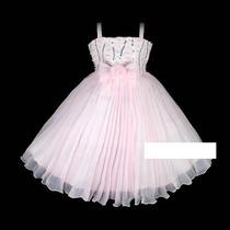 Vestido Infantil Princesa/daminha Bordado C/ Pérolas 8,10,12