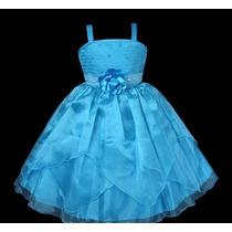 Vestido Infantil Festa/princesa/daminha Perolinhas No Torax