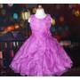Vestido Infantil Festa/princesa Aplicação Flores E Babados