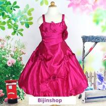 Vestido Festa/princesa Tafetá Cores Branco, Pink, Salmao,uva