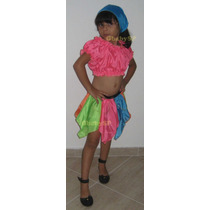 Fantasia Infantil Cigana - Ciganinha - Aprox. 07 A 10 Anos