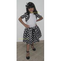 Fantasia Infantil Vestido Anos 60 - Vestido De Bolinhas