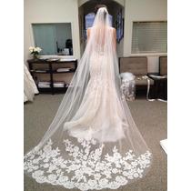 Véu De Noiva Bordado Véu Casamento 3 Mts Pronta Entrega 046