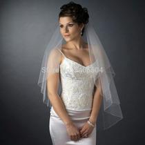 Véu De Noiva Branco Ou Off White Com Pente Pronta Entrega