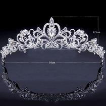 Linda Coroa Cristal Strass Joia Casamento Festas Noiva