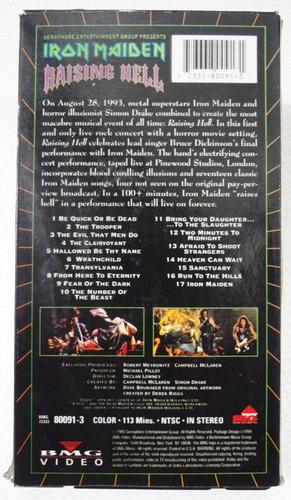 Vhs - Iron Maiden - Raising Hell - Importado