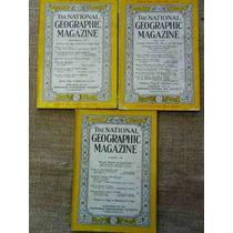 Lote Com 9 Revistas National Geographic Em Inglês Anos 50