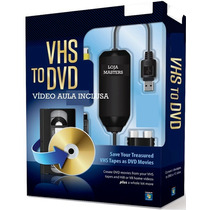 Fitas De Video Vhs Em Dvd Placa Captura Usb C/ Video Aula