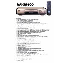 Video Cassete Jvc Super Vhs Hr-s9400u C/ Audio Dub Panasonic