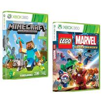 Lego Marvel + Minecraft Xbox 360 Originais Novos Rcr Games