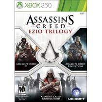Assassins Creed Ezio Trilogy 3 Jogos Mídia Física Xbox 360