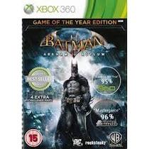 Batman Arkham Asylum - Game Of The Year - Xbox360 - Usado