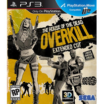 Jogo The House Of The Dead Overkill Ps3 Novo Lacrado Compat.