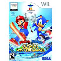 Jogo Mario E Sonic At The Olimpic Winter Games 2010 Para Wii