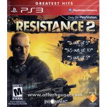 Jogo Ps3 - Resistance 2 (eua/original/frete:r$5 Por Deposito